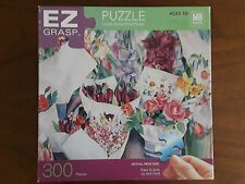 "MB Puzzle 300 Pc EZ Grasp Puzzle Large Extra Thick 18"" x 24"" Georgetown Floral"