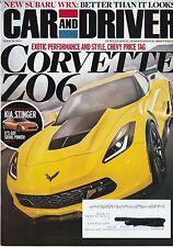 Car & Driver March 2014 - Kia Stinger - Corvette Z06 - Subaru WRX - Ford Mustang
