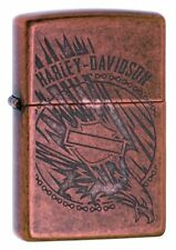 Zippo 29664, Harley Davidson-Eagle, Antique Copper Finish Lighter
