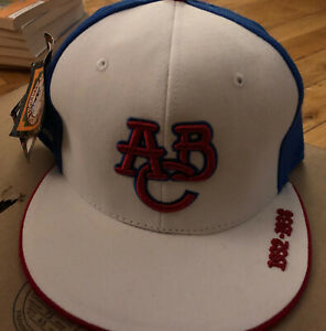 Negro League Baseball Hat Cap Fitted 7 1/4 Atlanta Black Crackers NWT White/Blue