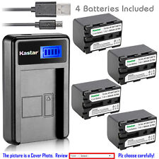Kastar Battery LCD Charger for Sony NP-QM71D Cyber-shot DSC-F828 DSC-R1 DSC-S30