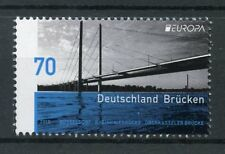 Germany 2018 MNH Bridges Europa Oberkassel Bridge 1v Set Architecture Stamps