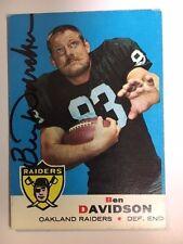 1969 Ben Davidson Signed Football Card Oakland Raiders  with COA