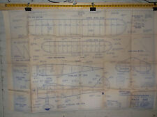VINTAGE WACO 1/2 A SCHOOL SCALE AIRPLANE DRAWINGS - PLANS AS PICTURED  *VG-COND*