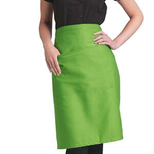 Dennys Recycled Waist Apron With Pocket Bistro Easy Care Service Waitress(DP110)