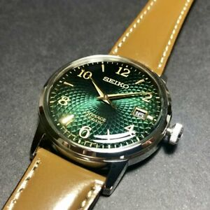 SEIKO Presage SRPE45J1 Automatic Leather Cocktail Mojito Green Japan Made
