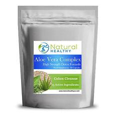 60 Aloe Vera Complex - High Strength Detox Capsules - UK Product - Colon Cleanse