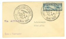 SCARCE 1926 U.S. CAM FLIGHT COVER 10S7 JACKSONVILLE TO MIAMI, BY FLORIDA AIRWAYS