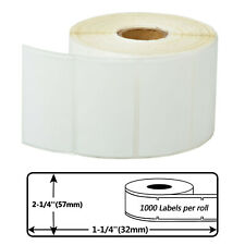 """1 Roll 2.25""""x1.25"""" Direct Thermal Postage Barcode labels For Zebra Lp-2824/2742"""