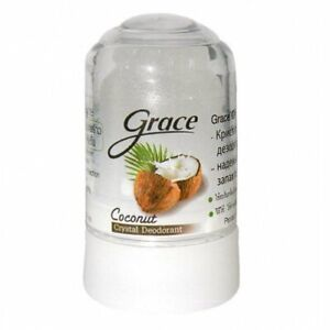 70g.GRACE Coconut Natural Deodorant Roll On Stick Alum Crystal Body Roll On