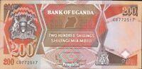 Uganda Pick-Nr: 32b (1991) bankfrisch 1991 200 Shillings