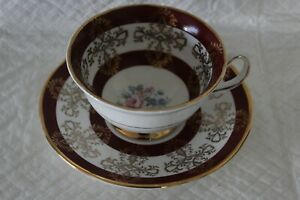 Royal Grafton Red Floral Bouquet Cup & Saucer