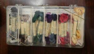 New ~ Sealed  Kreinik Embroidery Silk Mori Thread Collection New 25 Half Skeins