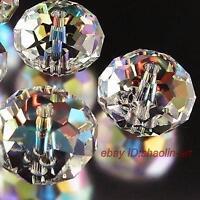 noir 98pcs cristal lâche 4x6mm perles pierres précieuses