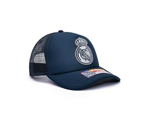 Real Madrid Trucker Snapback Baseball Hat Shield Officially Licensed Fan Ink
