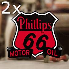 2x Stück Phillips 66 Aufkleber Sticker Autocollante Pegatina Old School Hot Rod