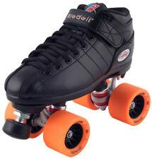 New! Riedell R3 Demon Edm Quad Roller Derby Speed Skates Black w/ Orange Edm