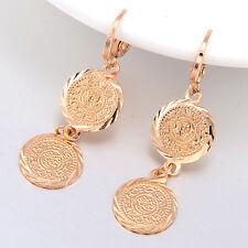 Womens Long Drop/Dangle Earrings Jewelry 18K Gold Filled Vintage Coin Earings