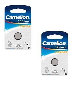 2 Knopfzellen Lithium Batterie Camelion CR2032- 3Volt