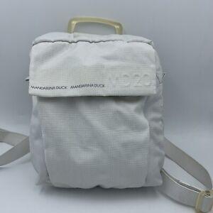 MANDARINA DUCK MD20 Light Gray Nylon Backpack
