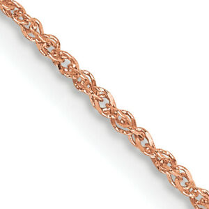 14K Rose Gold 1.1mm Ropa Chain RSC27