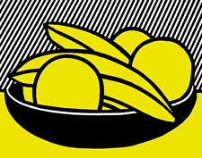 Lichtenstein Roy Bananas & Grapefruit Canvas 16 x 20  #4727