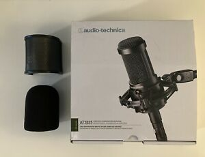 Audio-Technica AT2035 Cardioid Condenser Microphone w/ Pop Filter & Windscreen
