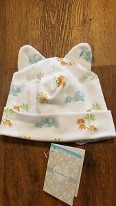 New Spring 2020 Kissy Kissy blue safari pima cotton baby hat,newborn,NWT