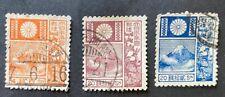 Japan 1919 VF 3 canceled stamps