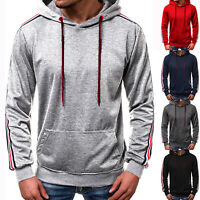 Mens Sport Hoodie Sweatshirt Pullover Casual Gym Hooded Jersey Jumper Blouse Top
