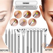 Pimple Remover Tool Kit 12 Heads Comedone Acne Spot Popper Blackhead Extractor