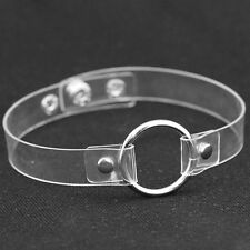 Clear Punk Gothic ring choker Harness Cage ring Gothic,,