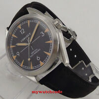 41mm corgeut black dial sapphire glass miyota 821A Automatic mens Watch C130