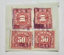 Four 1920's U.S. Documentary Stamps