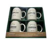 4 Starbucks Coffee Co Ceramic Mugs Gift Set 14oz Stackable