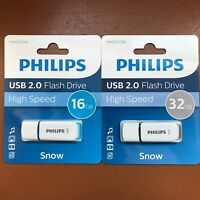 PHILIPS 16 GB and 32 GB SNOW HIGH SPEED USB Flash Drive Memory Stick Pen Drive