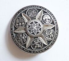 ANTIQUE ORITZA BROOCH  7 COATS OF ARMS OF BASQUE broche Pays Basque