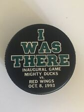 MIGHTY DUCKS VS. RED WINGS INAGURAL GAME I WAS THERE OCT. 8, 1993 PUCK