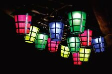 7.8M 40 LED MULTI COLOUR SOLAR LANTERN CHRISTMAS OUTDOOR GARDEN STRING LIGHTS