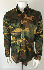 PAUL SMITH VINTAGE RARE MADE IN ENGLAND CAMOUFLAGE PARTY/ DRESS UP SHIRT SIZE L