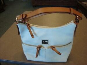 New Women's Dooney & Bourke White Leather PURSE HANDBAG