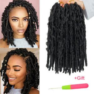 "12"" Goddess Faux Locs Afro Twist Braids Butterfly Locs Crochet Hair Extensions"