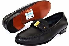 Salvatore Ferragamo Men's Shoes 7 EE US Signature Bit Loafers Black Leather Sole