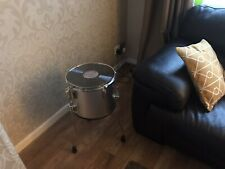 Upcycled Drum Coffee Occasional Table Retro Vintage With Record Vinyl LP Top