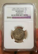 China Empire Kwangtung 20 Cents 1890-1908  AU DETAILS