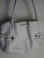 Large White Leather Purse Over Shoulder Deep Pockects Cole Haan Womens Tote