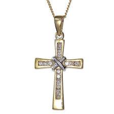 Yellow Gold Religious I1 Fine Diamond Necklaces & Pendants