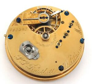 RARE ONLY 20,839 MADE / 1874 WALTHAM P S BARTLETT 10S 15J POCKET WATCH MOVEMENT.