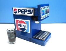 Dollhouse Miniature 3-Flavor Soda Fountain Machine with Filled Glass :LB353-1