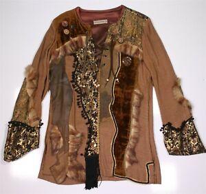 Bill Whitten Custom Made 1970s Rare Unique Native America Style Stage Suit 38/40